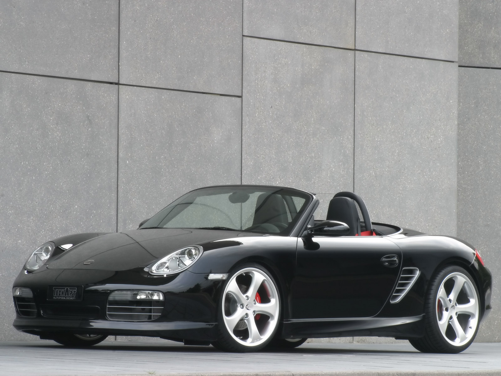 Download Desktop Wallpaper Black Porsche Sports Car With An Open Top