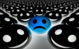 3D emoticons 1 blue and a lot of black