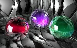 Bright 3d sphere