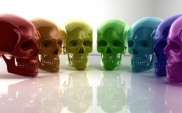 colored skull