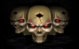 skull with pierced brows
