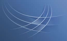 Blue abstraction with curved lines, cool wallpaper
