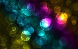 Colorful abstract wallpaper with balls