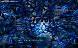 Desktop Wallpaper abstraction, blue, blue background, tentacles