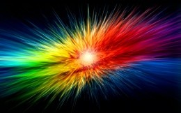 Multicolored explosion
