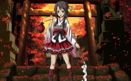Anime girl red riding hood