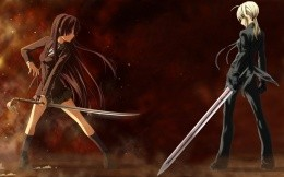 Battle with swords two anime girls