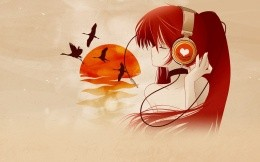 Japanese music about love, anime wallpaper