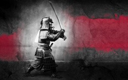 samurai in fighting stance