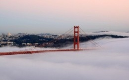 California Bridge in the fog