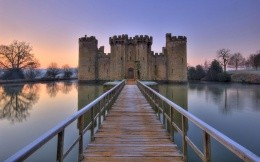 English castle on the water