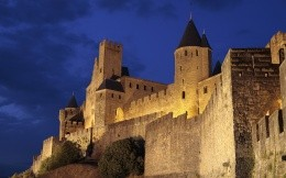 Photos of the castle of Carcassonne, France