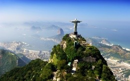 Statue of redeemer Jesus Christ in Brazil