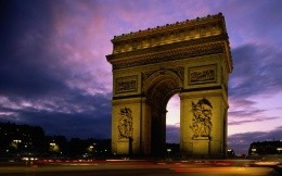 The Arc de Triomphe in Paris (France)