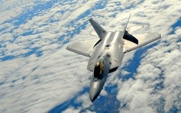 American military aircraft F22 Raptor, wallpapers