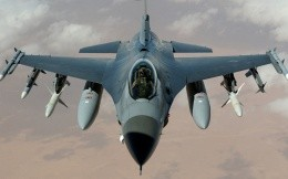 American military fighter Falcon F16