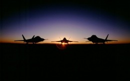 are three fighter at dawn