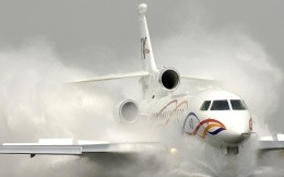 Civilian aircraft landing in bad conditions
