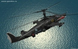 Ka-52 Black Shark - a military helicopter, the background wallpaper, theme aviation