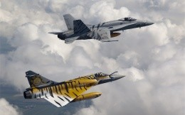 McDonnell Douglas FA-18 and Mirage 2000