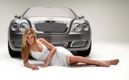 A girl and a Bentley