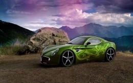 Alfa Romeo car with green airbrushing