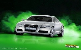 AUDI car on a black and green background, wallpaper