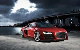 Audi RS8, photos of red sports car