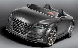 Audi TT convertible color of wet asphalt, front view