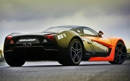 Black and orange Russian sports car Marus