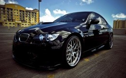 black BMW Coupe