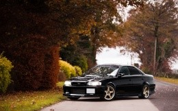 Black car Toyota Chaser, photo wallpaper