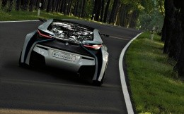 BMW Vision Efficientdynamics, photos car on the road, rear view