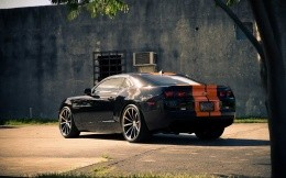 Chevrolet Camaro in sports, black and orange color