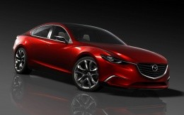 Concept car Mazda Takeri red