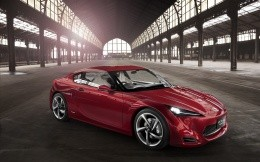 Concept car Toyota FT 86, the red front view