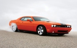 Dodge, Challendger, SRT, red, smoke