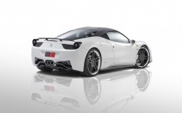 Ferrari coupe, photo white car with a black roof