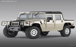 Hummer (SUV) on a gray background - the image on the desktop