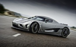 Koenigsegg supercar in a curve, photo wallpaper Excellence