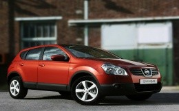 Luxury car red Nissan Qashqai