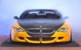 Modern yellow black car BMW, wallpaper, theme cars