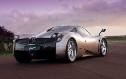 Pagani supercar Huairou, rear view photo