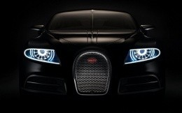 Photo Black Bugatti Veyron, front view