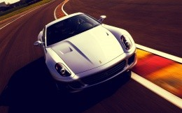 Photo car Ferrari 599 white