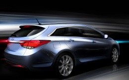 Photo new Hyundai i40 rear view (wallpaper)