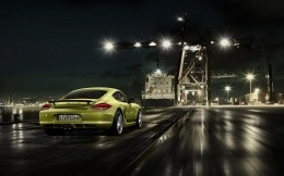 Porsche goes green at the seaport, photo 1920x1200.