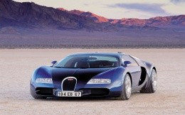 Rare Bugatti sports car in the desert wallpaper.