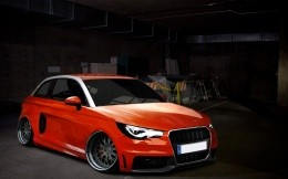 Red Audi A1, photo wallpaper 1920X1200.