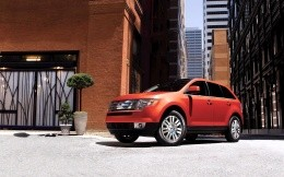 Red Ford Edge crossover